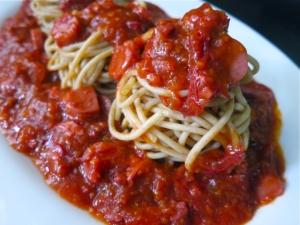 Corned Beef Spaghetti