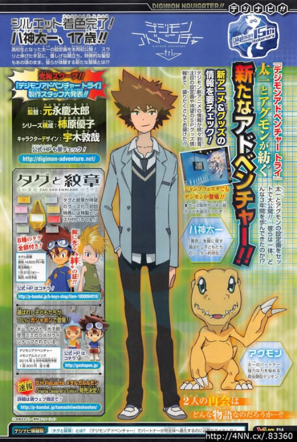 Digimon Adventure tri Taichi and Agumon