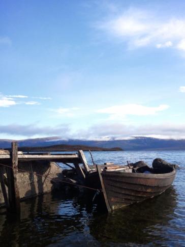 Boat on Torneträsk