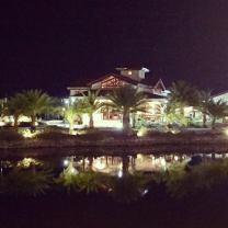 Espacio Verde Clubhouse Reflection in the Lagoon
