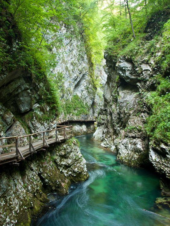 Blejski Vintgar (Bled Gorge), Triglav National Park, Julian Alps, Slovenia