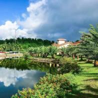 The lagoon at Espacio Verde Resort.