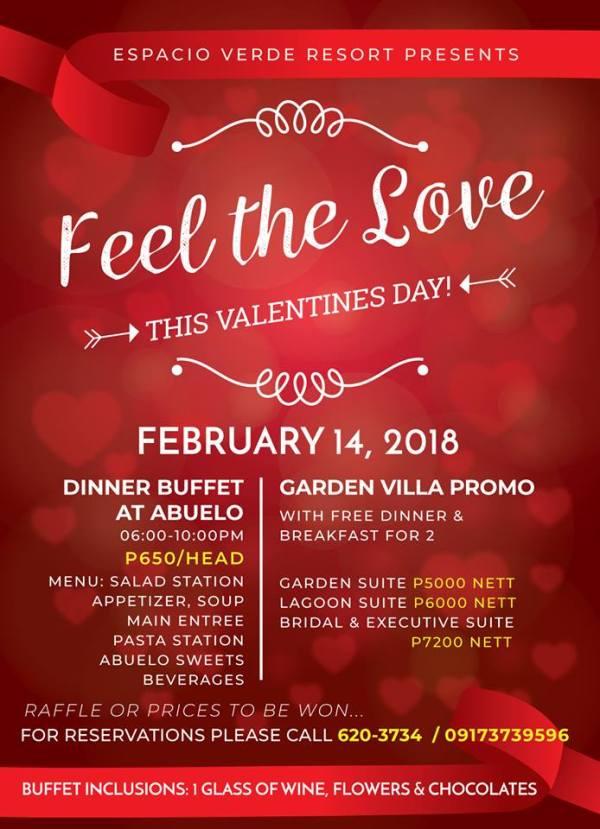 Espacio Verde Valentine's Promo 2018