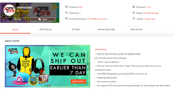 buy anime products in shopee animezone