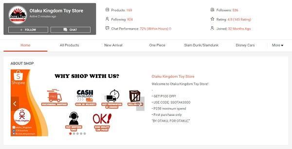 buy anime products in shopee otaku kingdom toy store